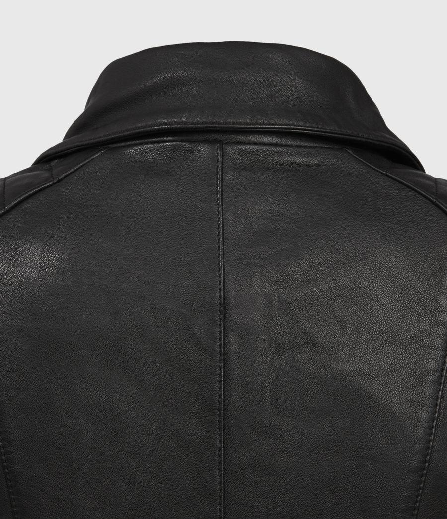Mujer Steine Leather Biker Jacket (black) - Image 5