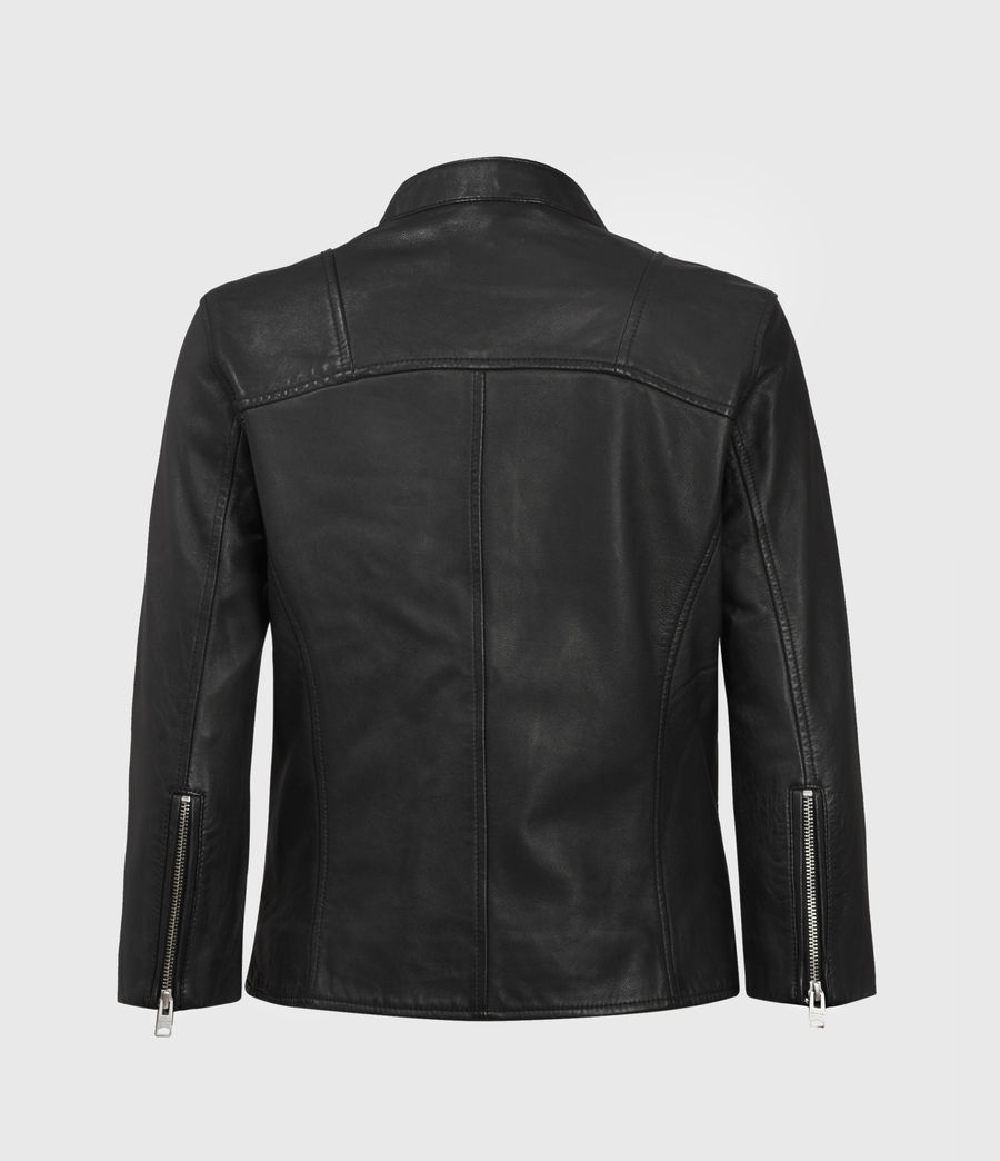 Women's Turne Leather Biker Jacket (black) - Image 2