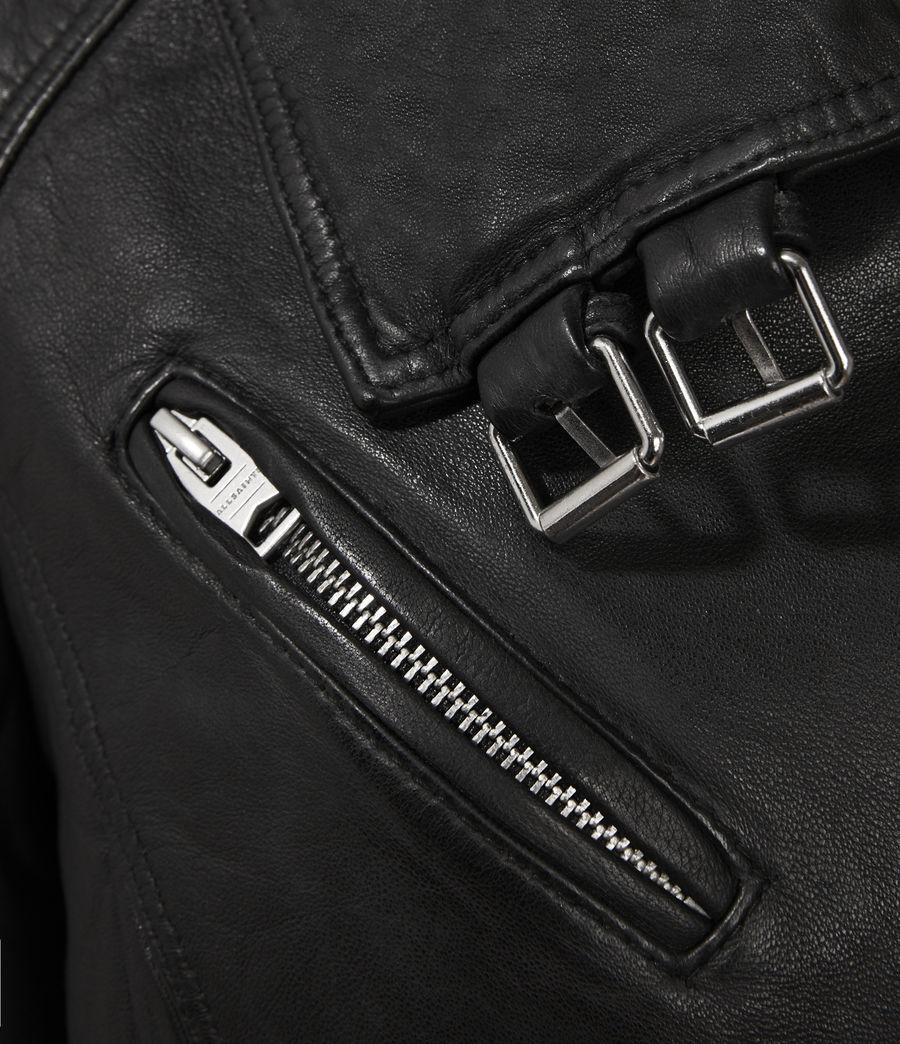 Women's Belvedere Leather Biker Jacket (black) - Image 3