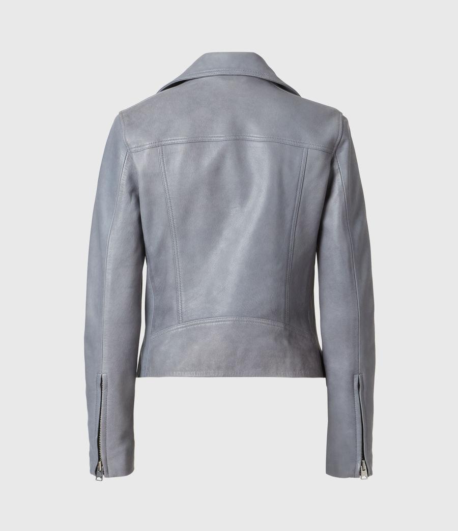 Femmes Dalby Leather Biker Jacket (airforce_blue) - Image 3
