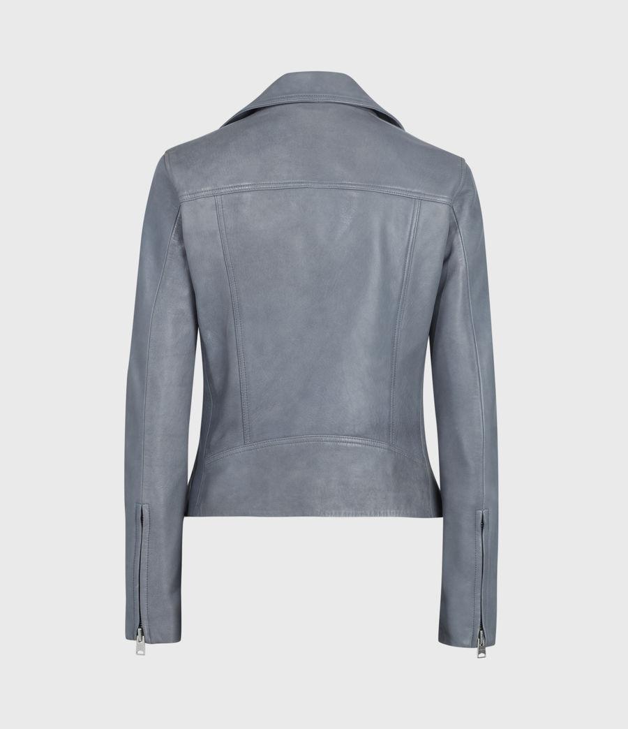 Damen Dalby Leather Bikerjacke (sky_blue) - Image 5