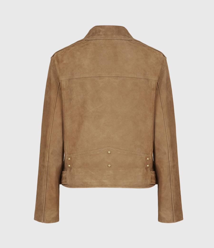 Women's Luna Suede Biker Jacket (tan_brown) - Image 3