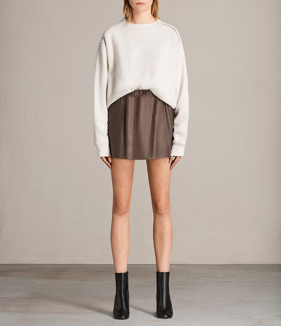 Womens Suko Leather Skirt (battle_brown) - Image 1