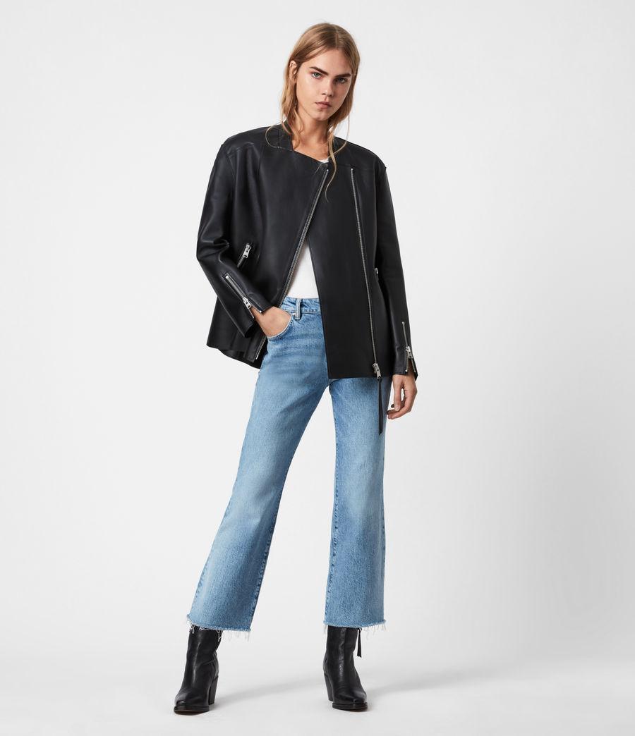 Women's Abbey Leather Jacket (black) - Image 1