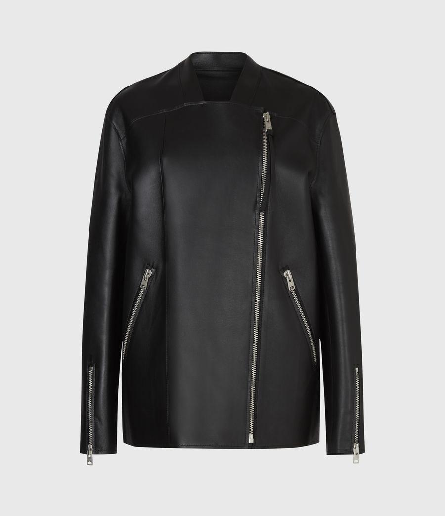 Women's Abbey Leather Jacket (black) - Image 2