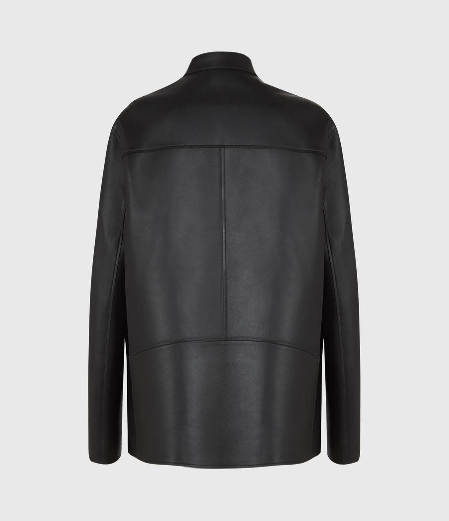 Women's Abbey Leather Jacket (black) - Image 3