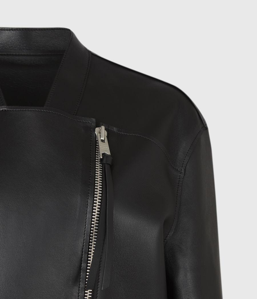 Women's Abbey Leather Jacket (black) - Image 5