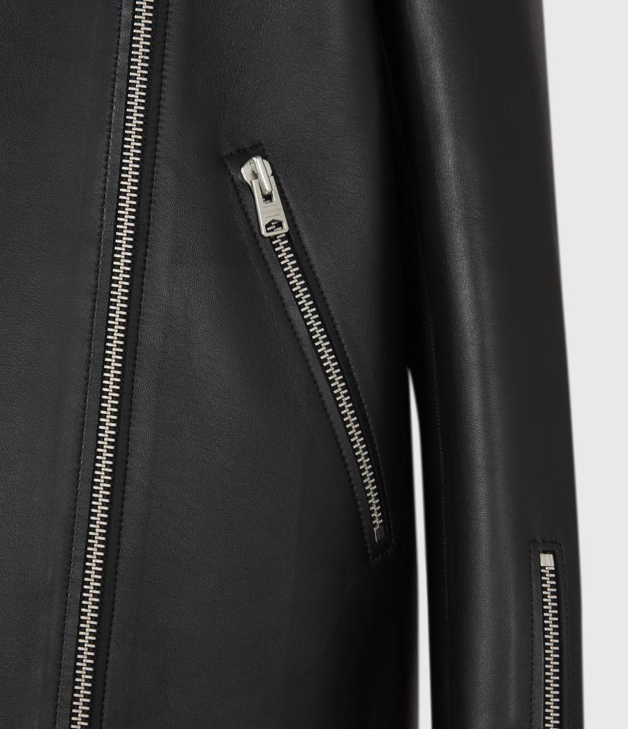 Women's Abbey Leather Jacket (black) - Image 6