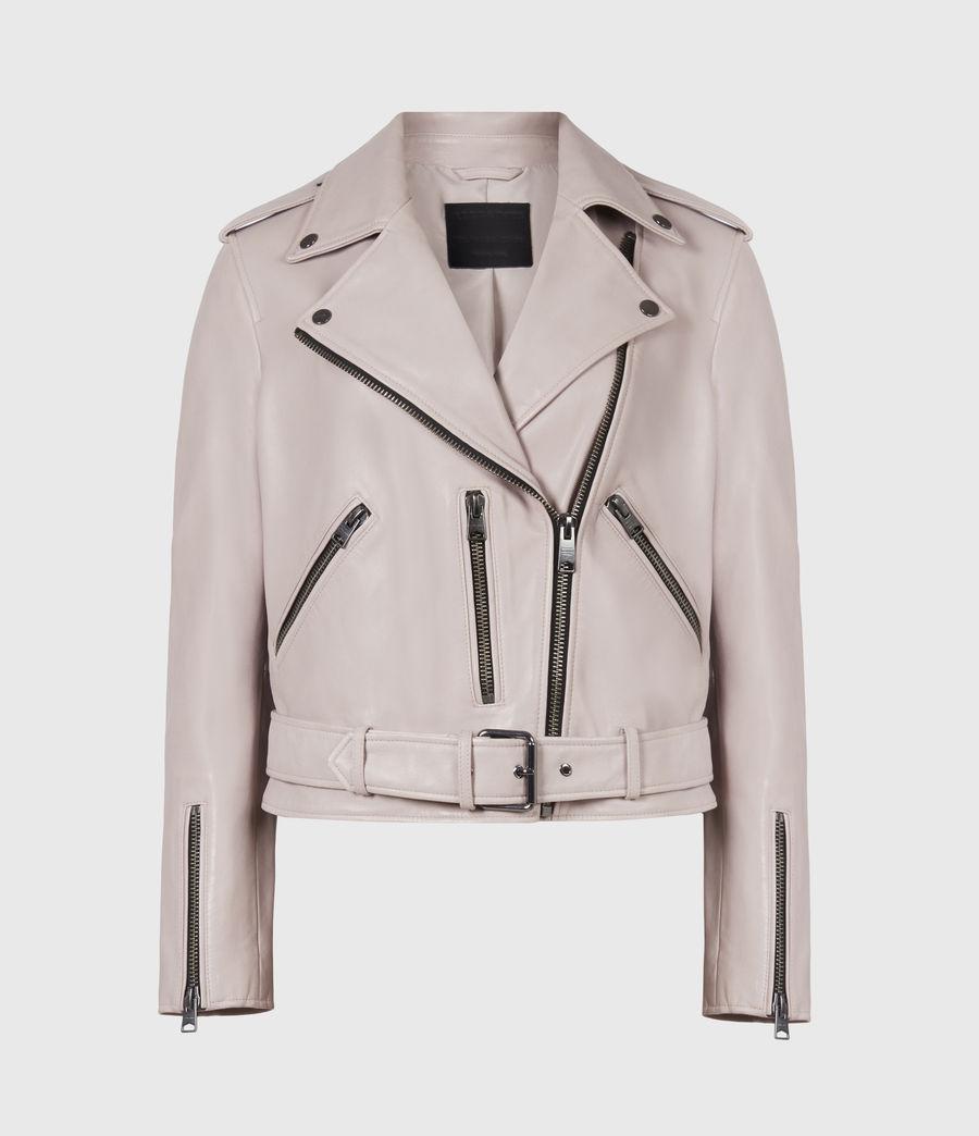 Femmes Balfern Leather Biker Jacket (misty_lilac) - Image 2