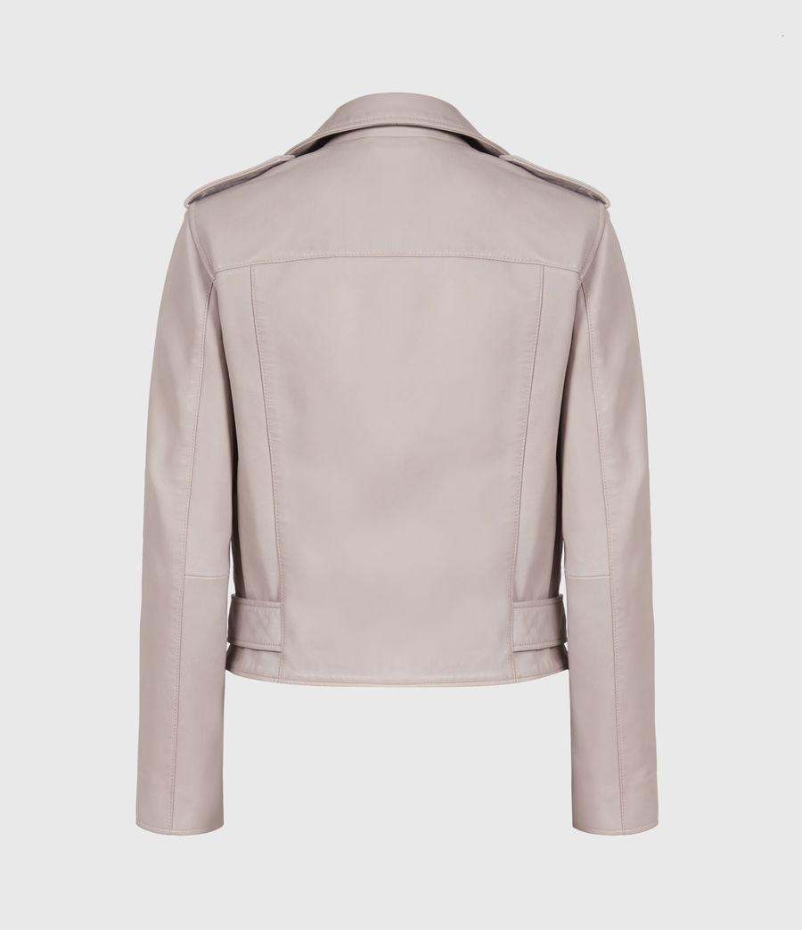Femmes Balfern Leather Biker Jacket (misty_lilac) - Image 3