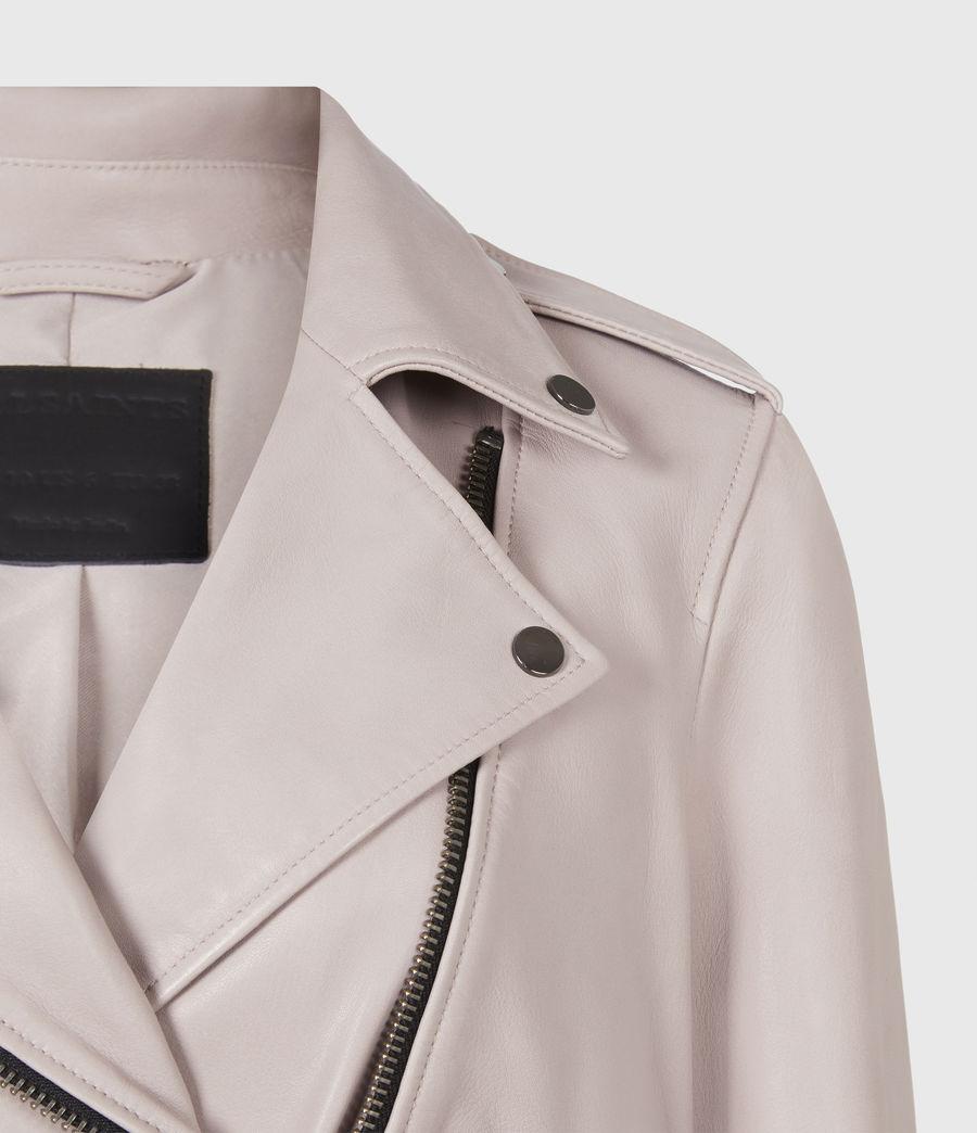 Femmes Balfern Leather Biker Jacket (misty_lilac) - Image 5