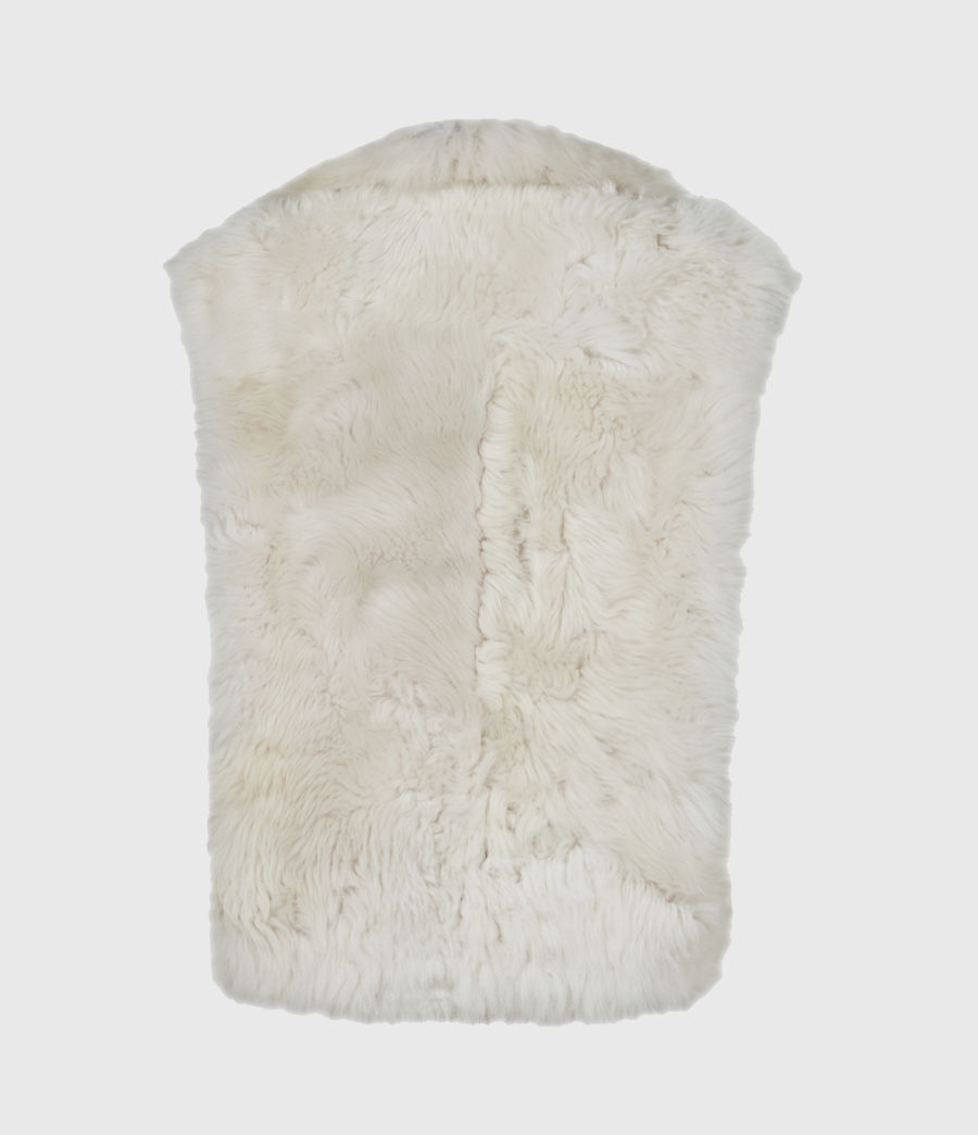 Womens Reversible Shearling Gilet (black) - Image 6