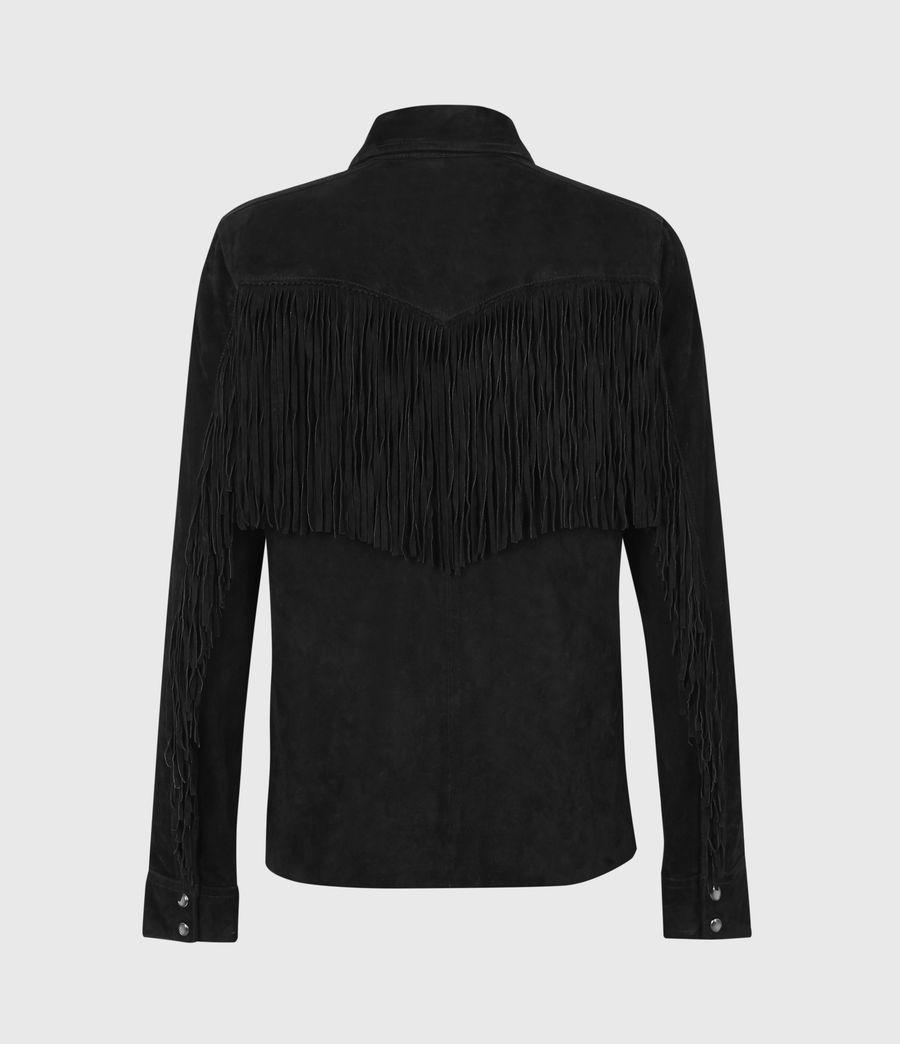 Women's Stanway Suede Tassel Shirt (washed_black) - Image 2