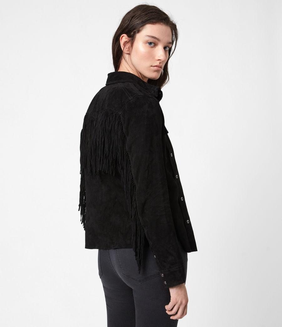 Women's Stanway Suede Tassel Shirt (washed_black) - Image 4
