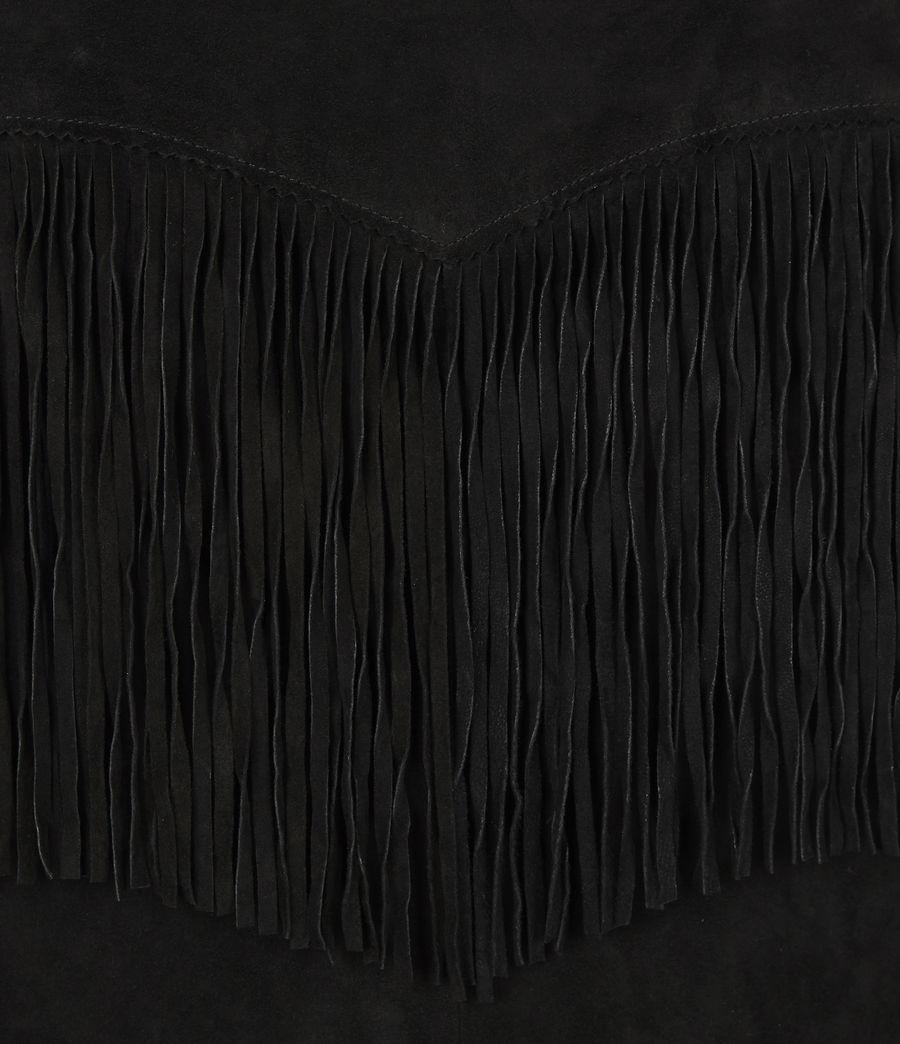 Women's Stanway Suede Tassel Shirt (washed_black) - Image 6