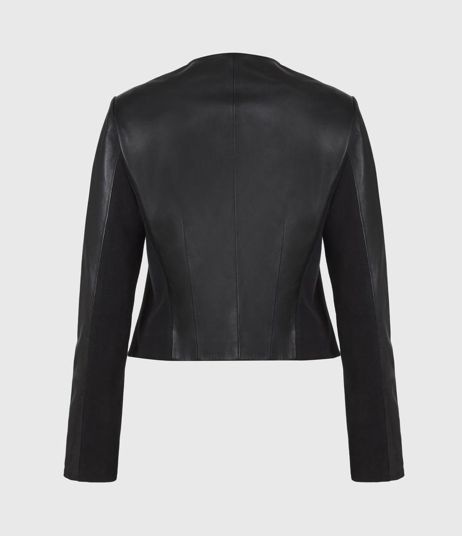 Women's Nala Leather Biker Jacket (black) - Image 3