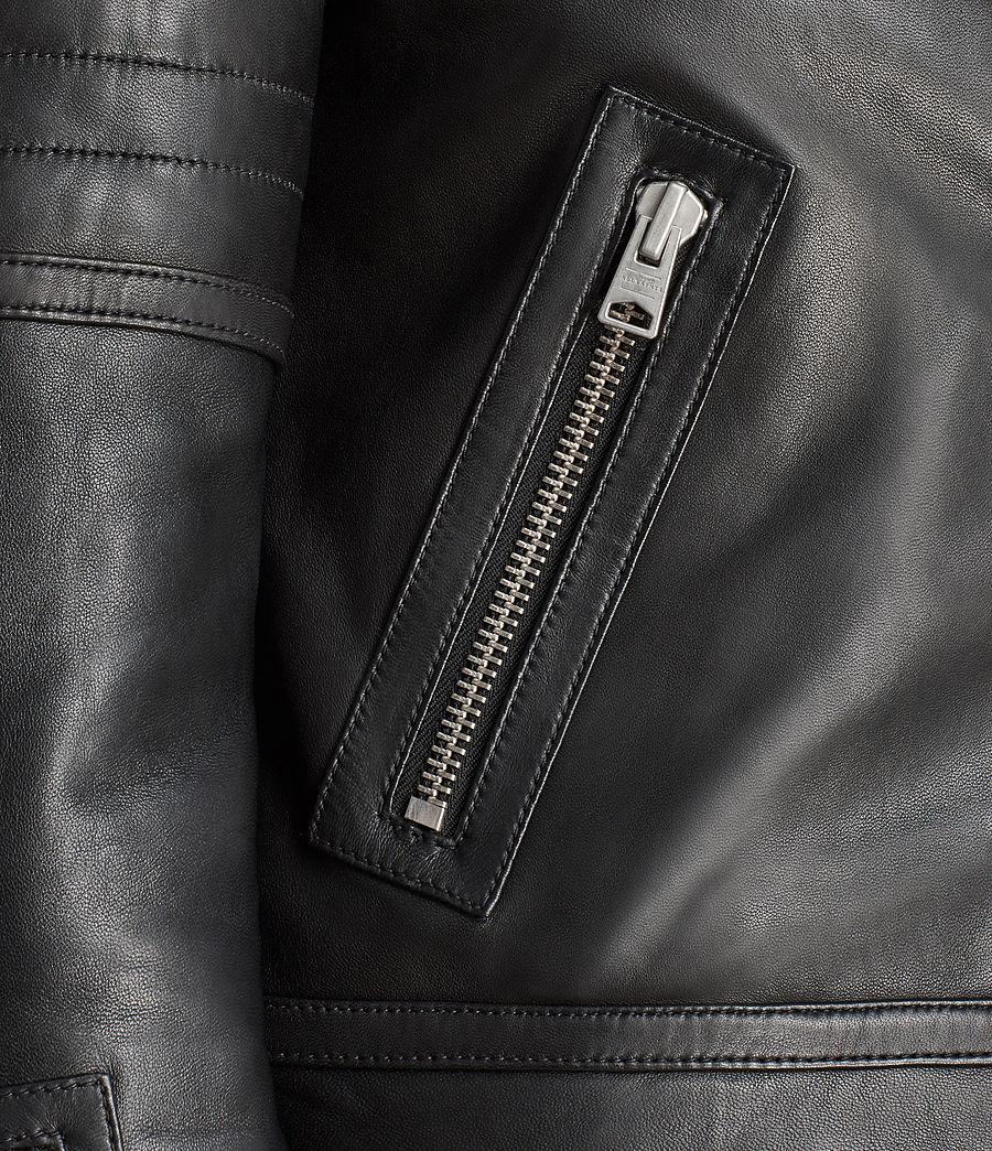 Women's Perkins Lux Leather Biker Jacket (black_magma_grey) - Image 4