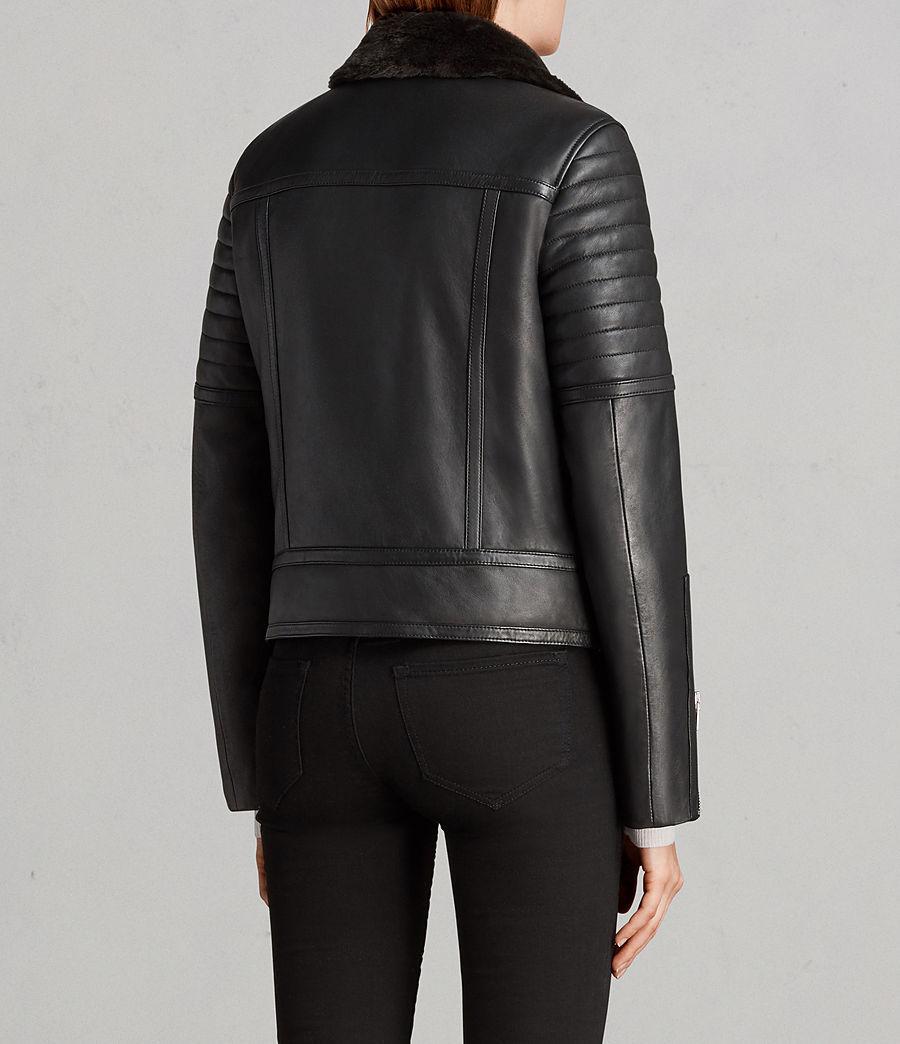 Women's Perkins Lux Leather Biker Jacket (black_magma_grey) - Image 9