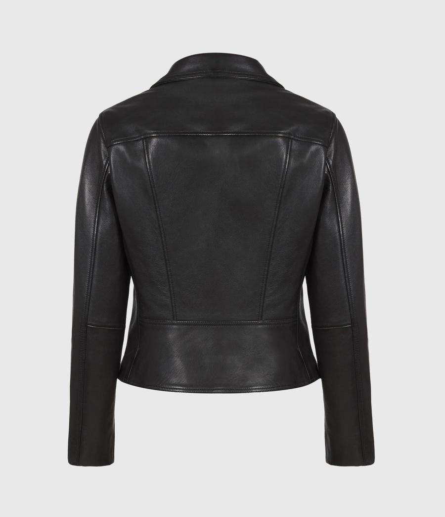 Women's Neve Leather Biker Jacket (black) - Image 3