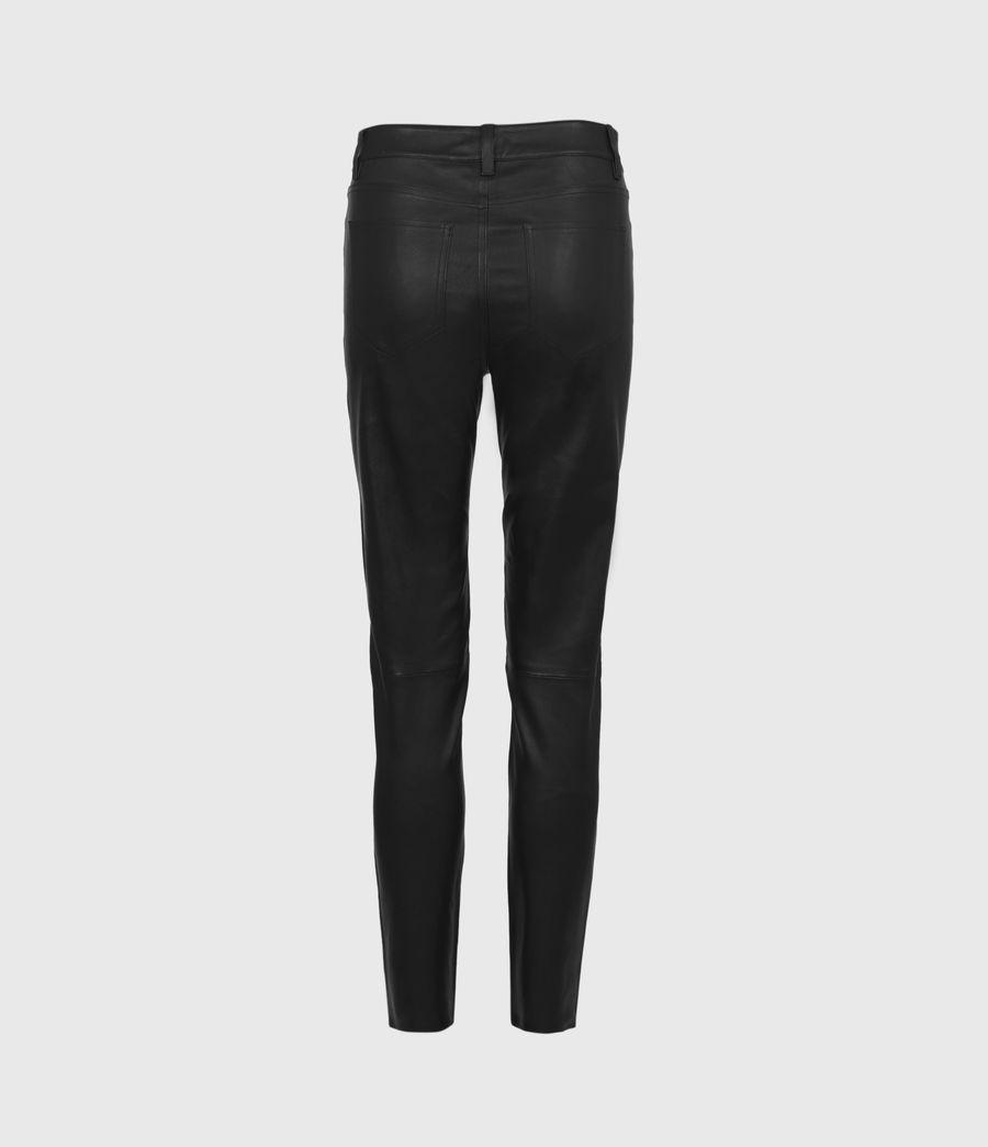 Femmes Pantalon en Cuir à Taille Mi-Haute Ina (black) - Image 3