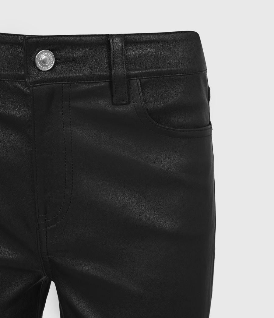 Femmes Pantalon en Cuir à Taille Mi-Haute Ina (black) - Image 4