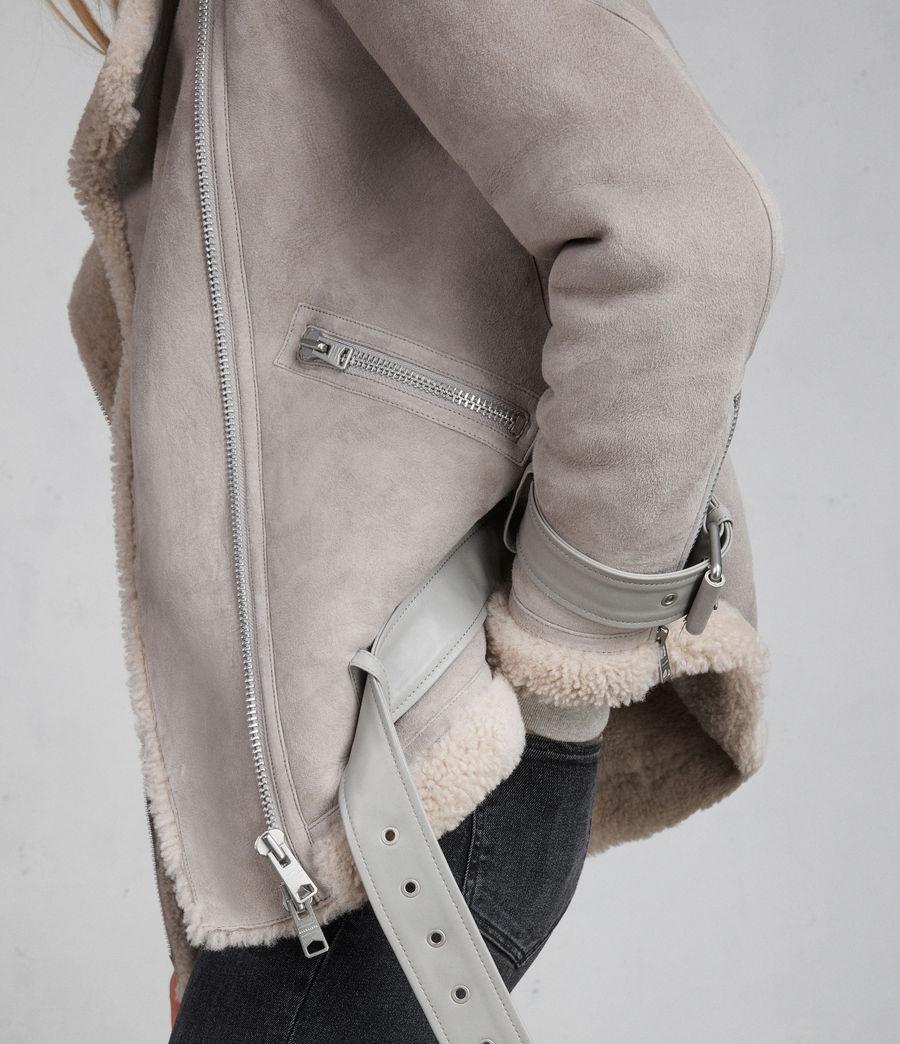 Femmes Peau Lainée Oversize Hawley (pebble_grey) - Image 5
