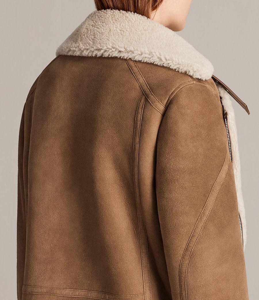 Mujer Cazadora Hawley Oversize Shearling (sand_brown_ecru) - Image 7
