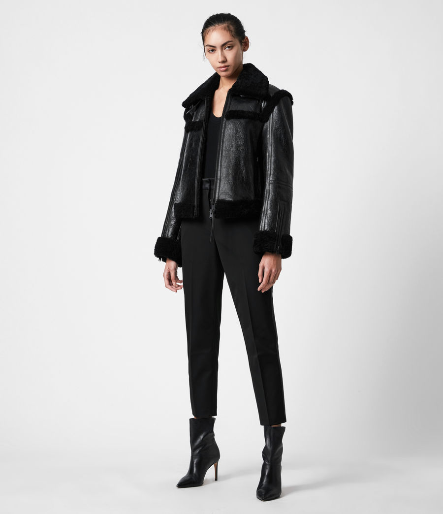Womens Kitt Shearling Jacket (black) - Image 1