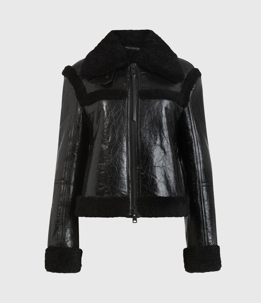 Womens Kitt Shearling Jacket (black) - Image 2