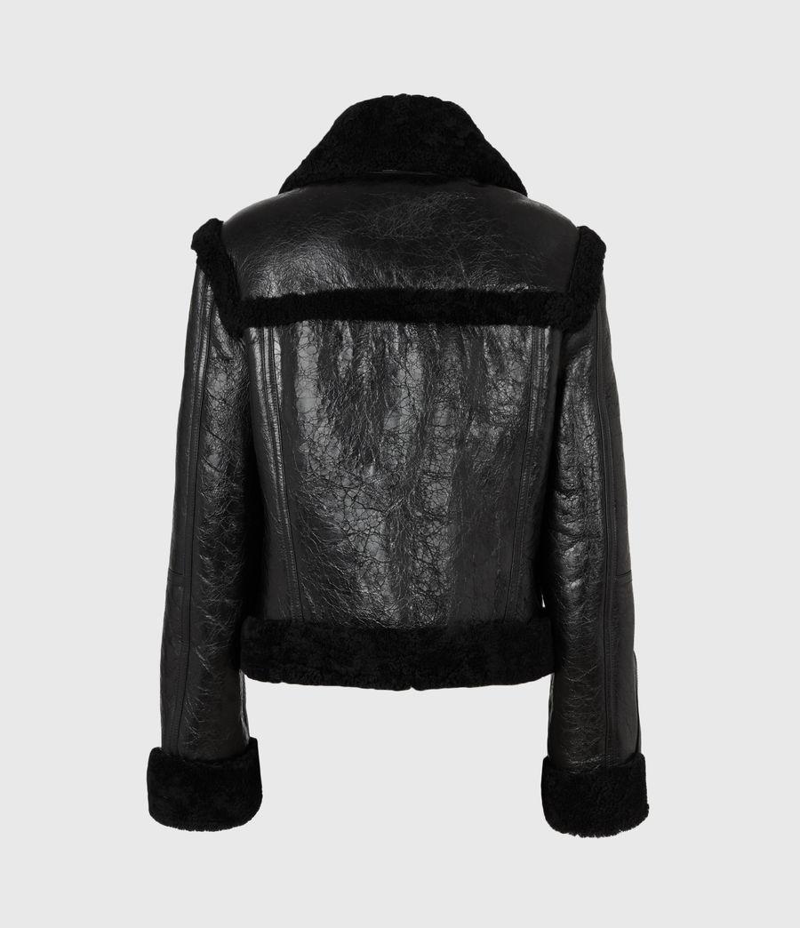 Womens Kitt Shearling Jacket (black) - Image 3