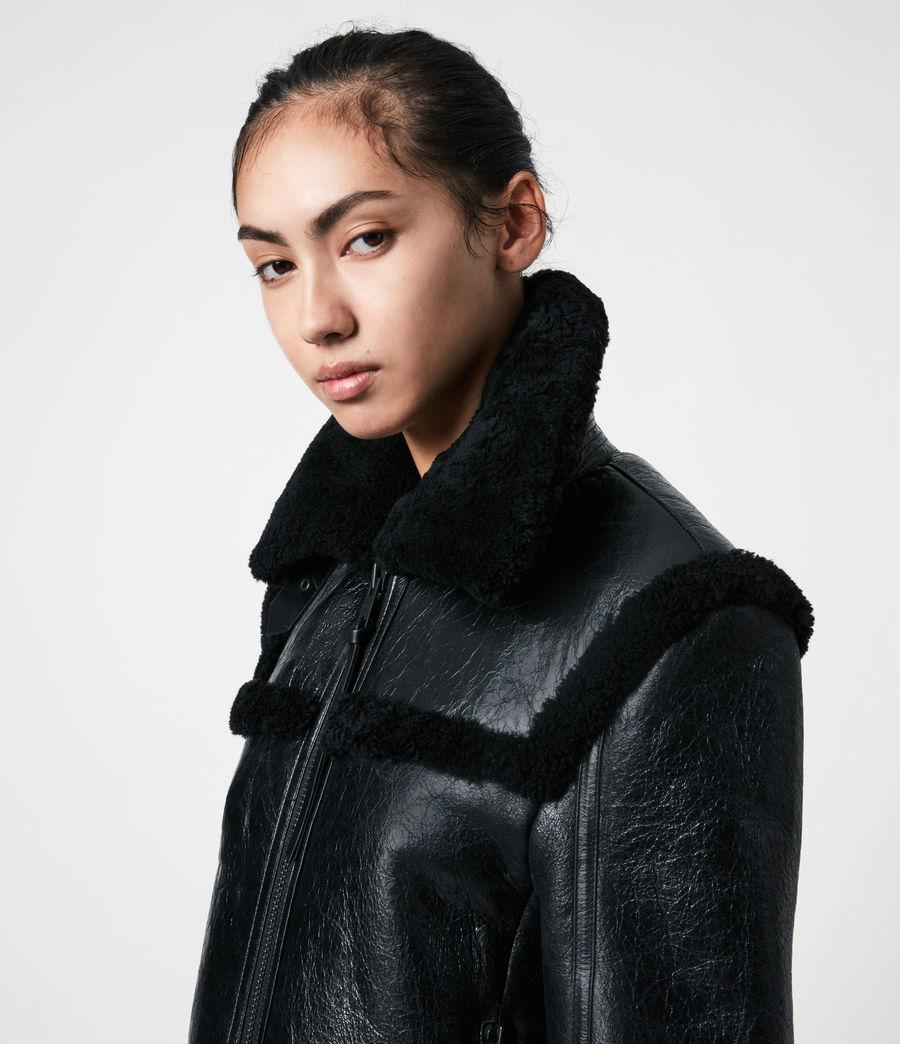 Womens Kitt Shearling Jacket (black) - Image 4