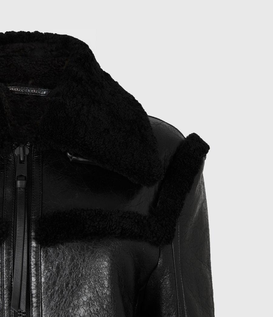 Womens Kitt Shearling Jacket (black) - Image 5