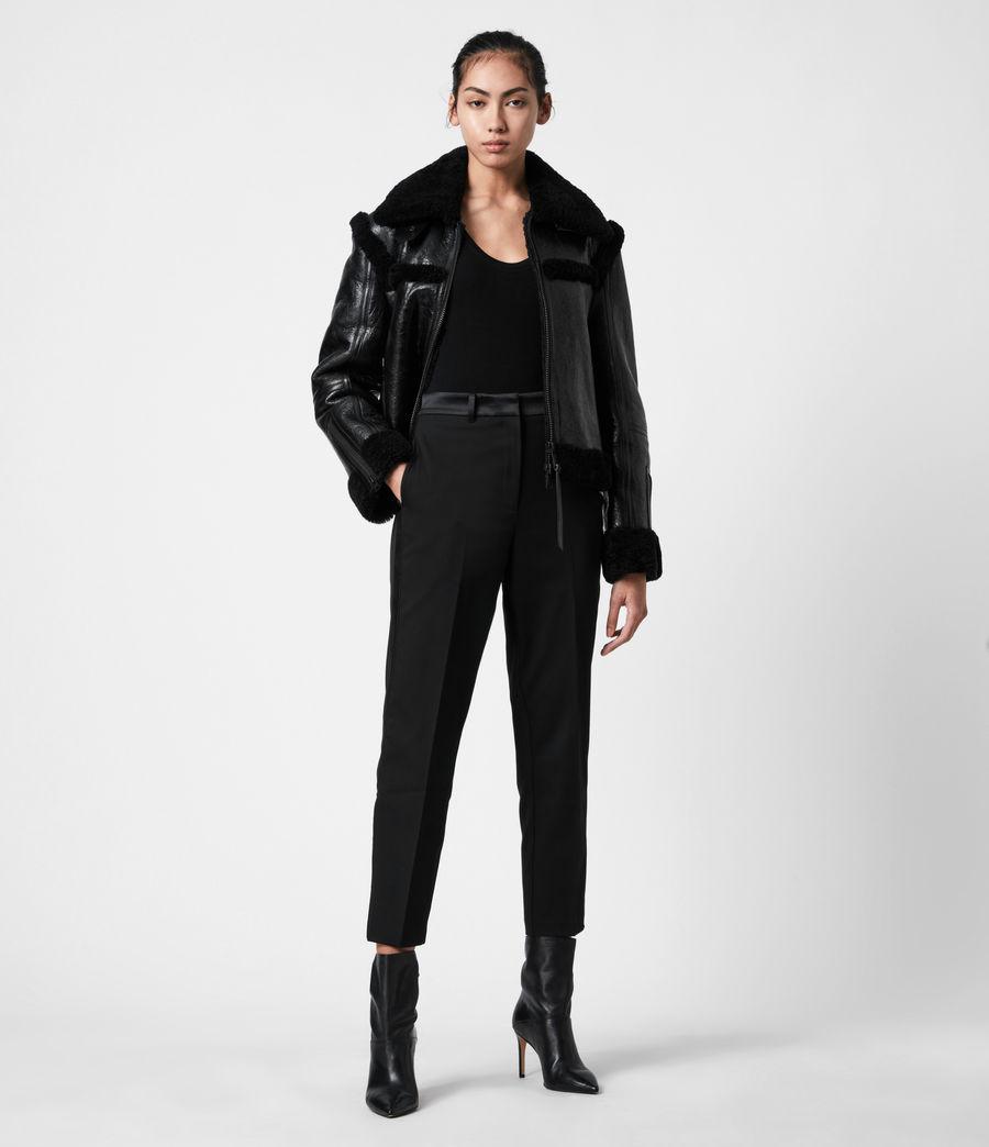 Womens Kitt Shearling Jacket (black) - Image 7