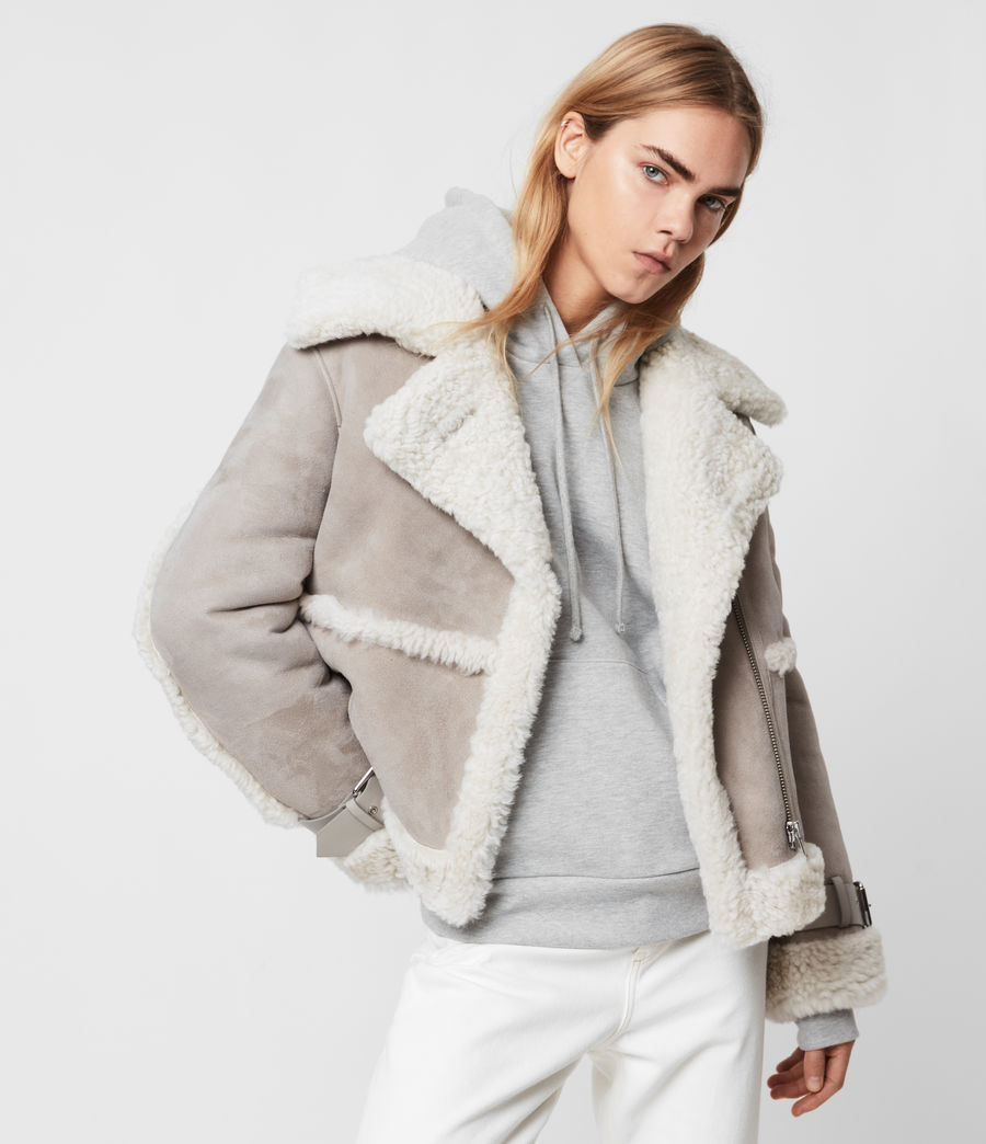 Women's Farley Shearling Jacket (ice_grey) - Image 1