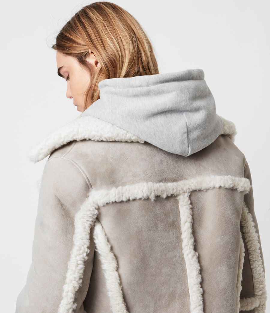 Women's Farley Shearling Jacket (ice_grey) - Image 2
