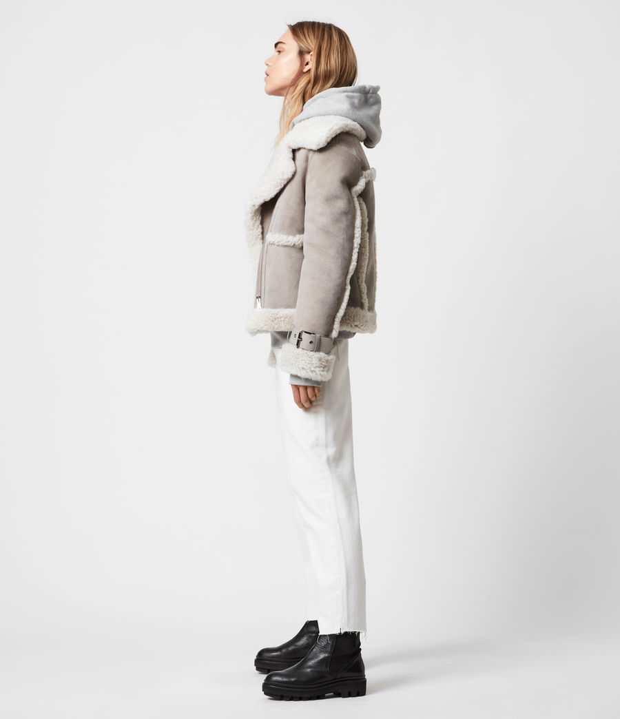 Women's Farley Shearling Jacket (ice_grey) - Image 3