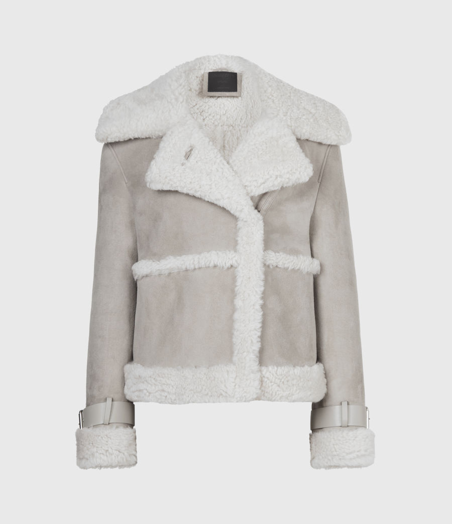 Women's Farley Shearling Jacket (ice_grey) - Image 4