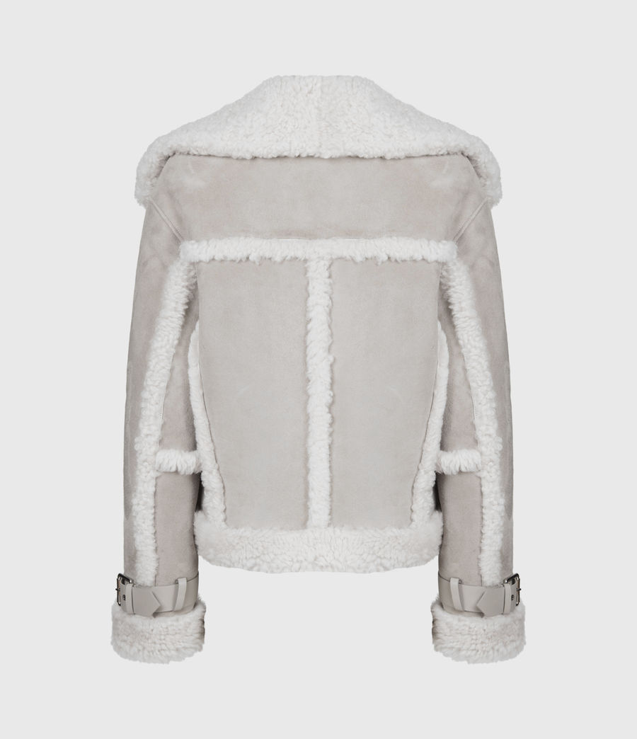 Women's Farley Shearling Jacket (ice_grey) - Image 5
