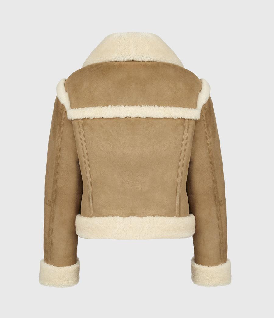 Women's Kitt Shearling Jacket (sand_brown_ecru) - Image 3