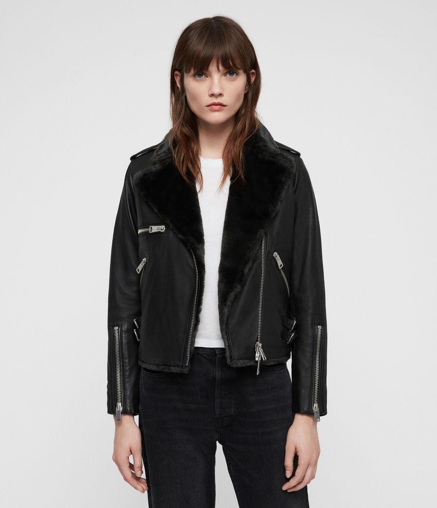 Mujer Higgens Lux Biker Jacket (black_magma_grey) - Image 1