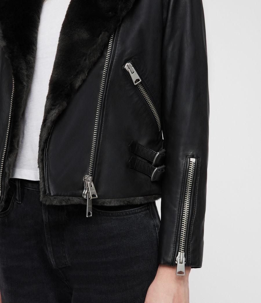 Mujer Higgens Lux Biker Jacket (black_magma_grey) - Image 2
