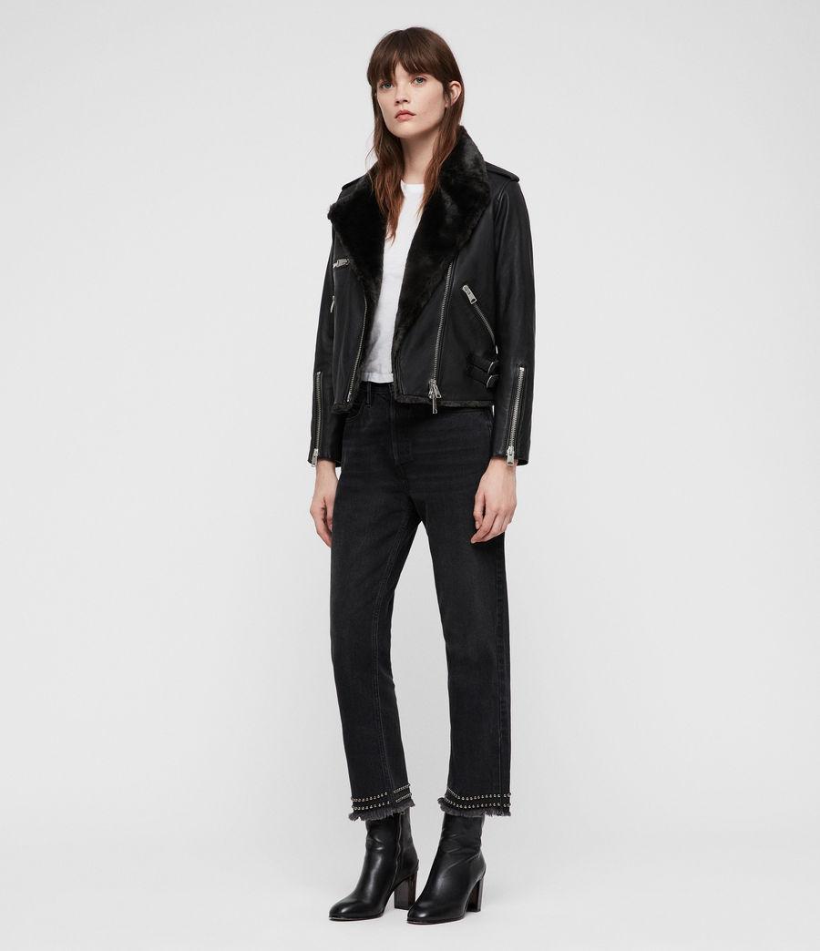 Mujer Higgens Lux Biker Jacket (black_magma_grey) - Image 3
