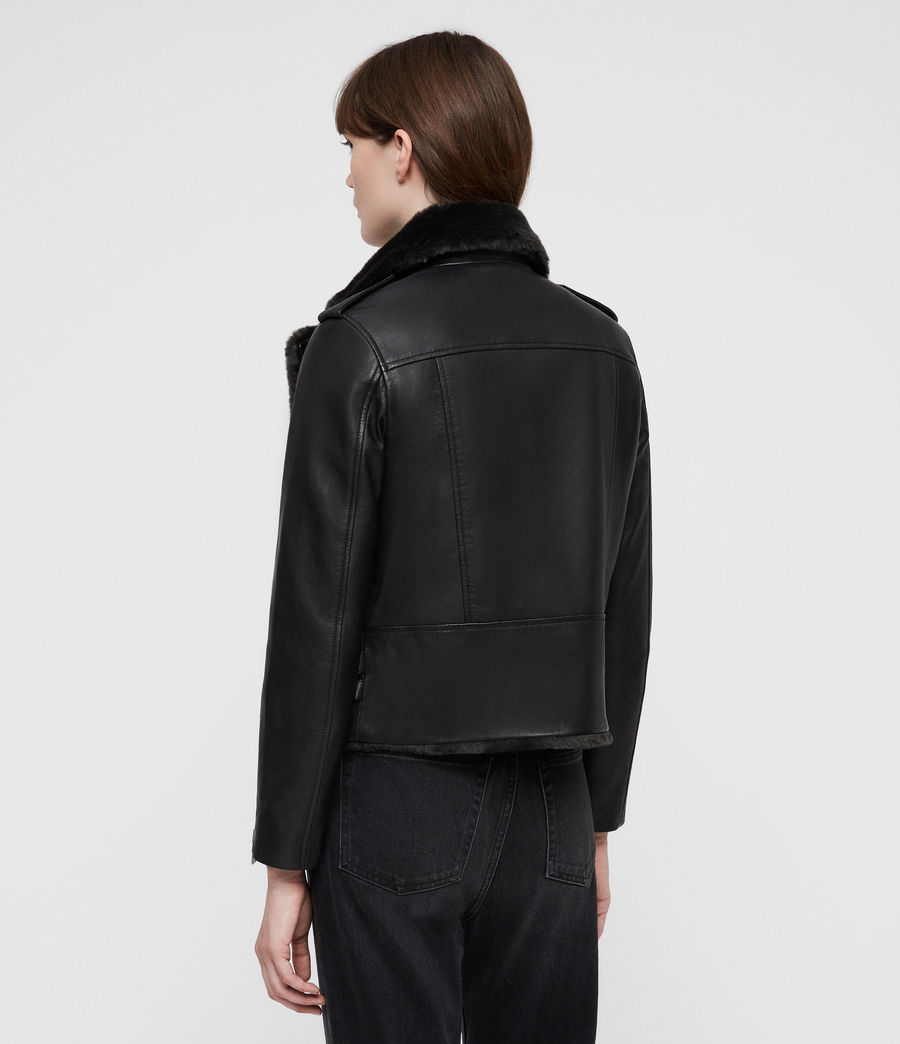 Mujer Higgens Lux Biker Jacket (black_magma_grey) - Image 4