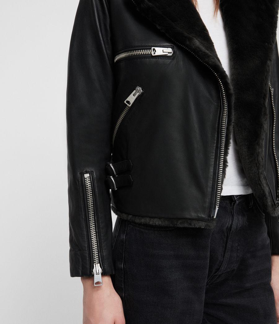 Mujer Higgens Lux Biker Jacket (black_magma_grey) - Image 5
