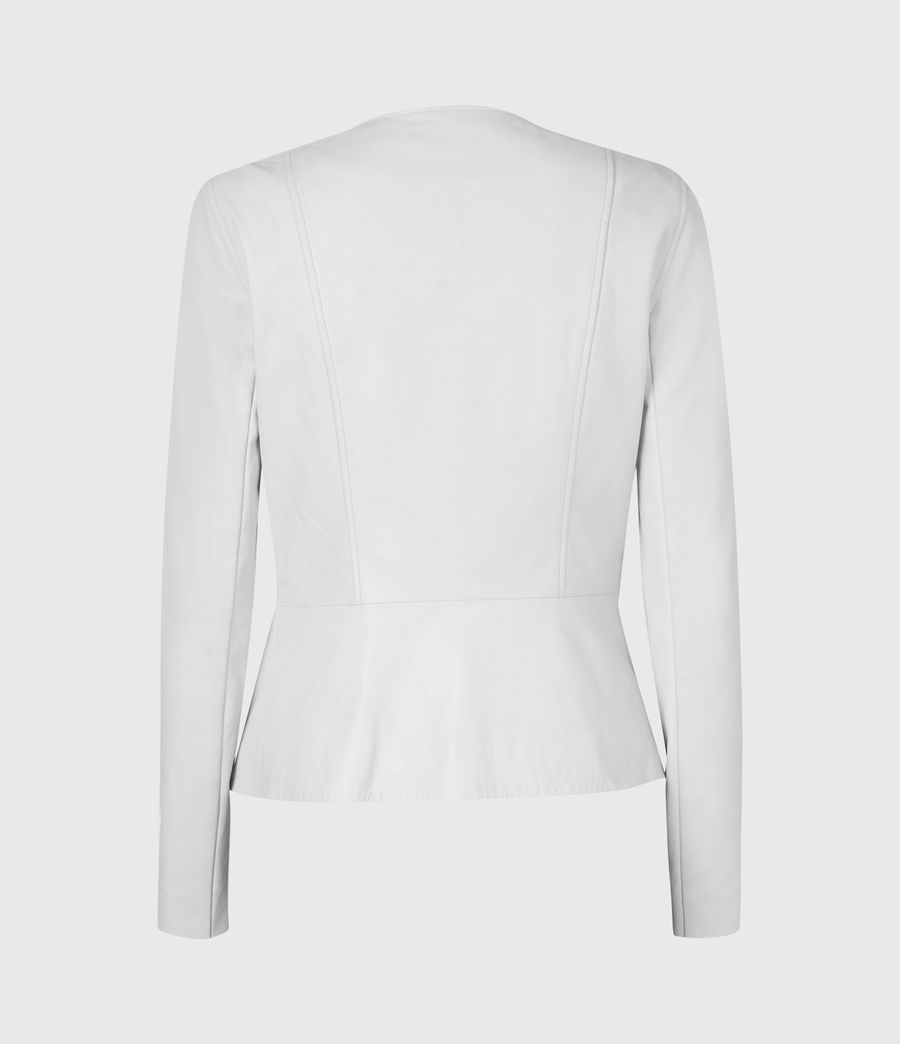 Damen Fawn Leather Biker Jacket (off_white) - Image 3
