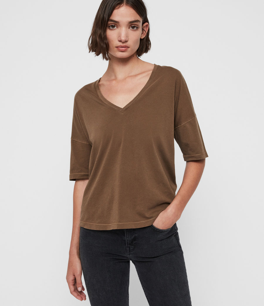 Women's Mina T-Shirt (khaki_green) - Image 1