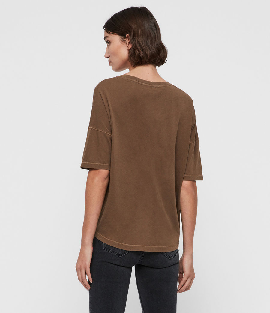 Women's Mina T-Shirt (khaki_green) - Image 5