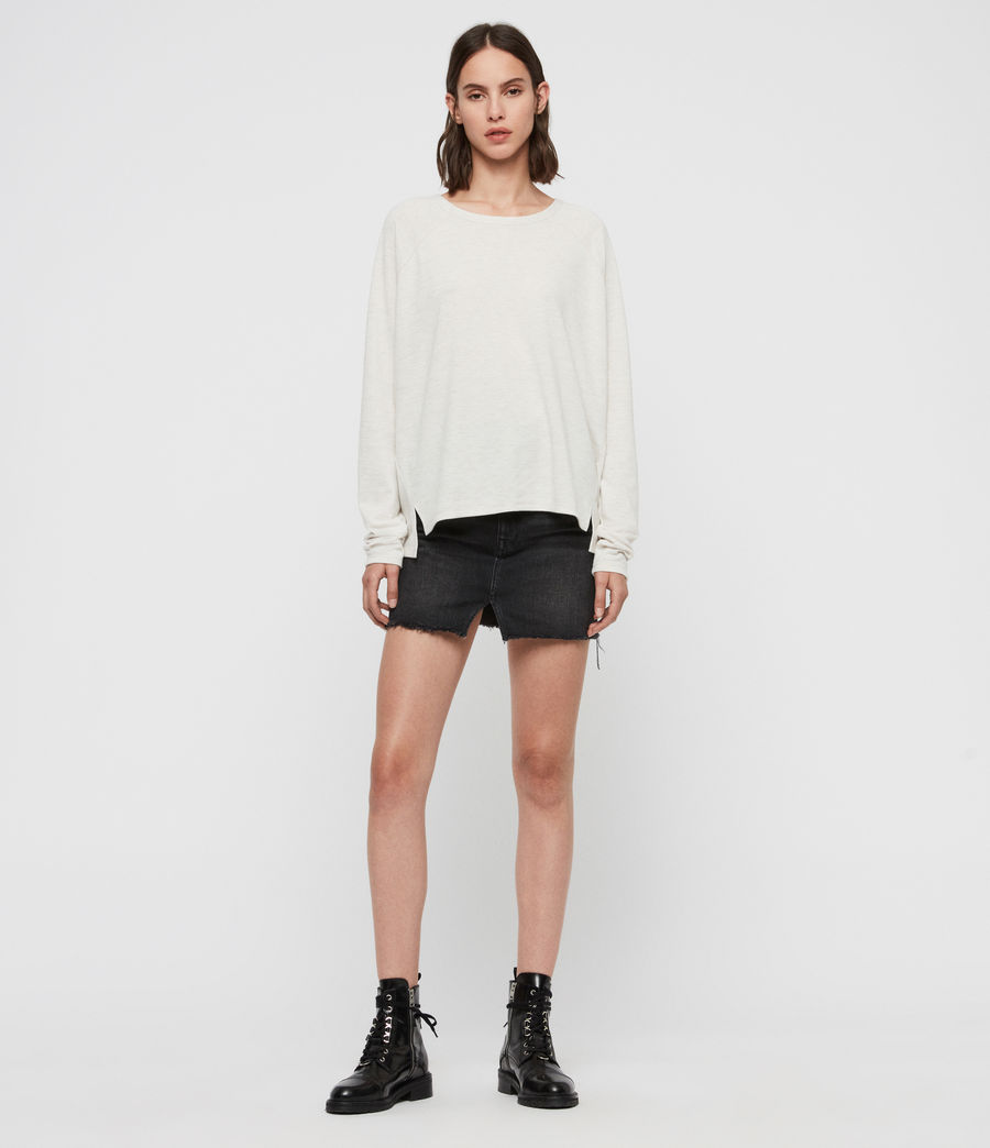 Women's Milly Brushed T-Shirt (oyster_white) - Image 3
