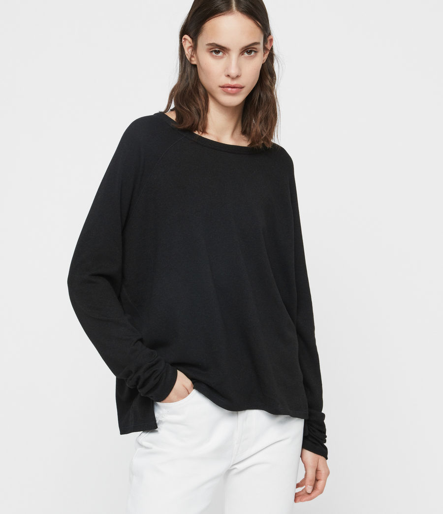Donne Maglia Milly (black) - Image 1