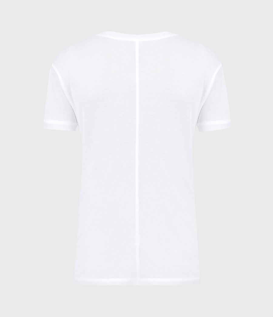 Womens Francesco T-Shirt (chalk_white) - Image 3